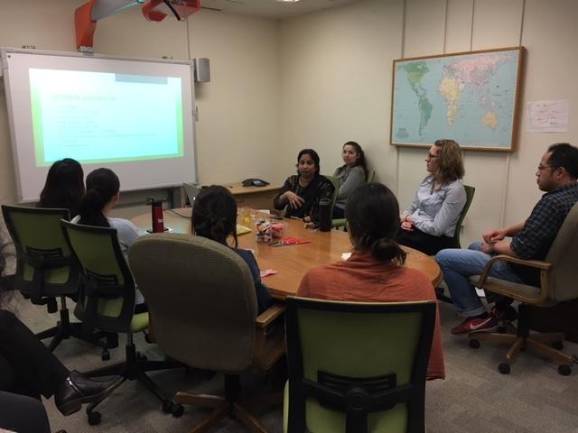 Sunita Giving Her Presentation To I Earn Usa Staff About I Earn India