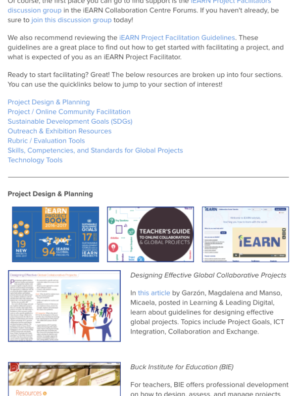iEARN Project Facilitators Resource Toolkit