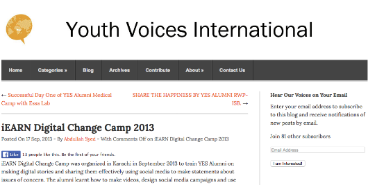 9 17 2013 Youth Voices International
