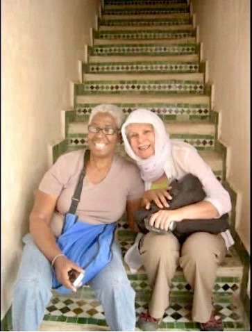 Betty Burgos iEARN Suriname Coordinator And Cathy In Median At Fez Morocco