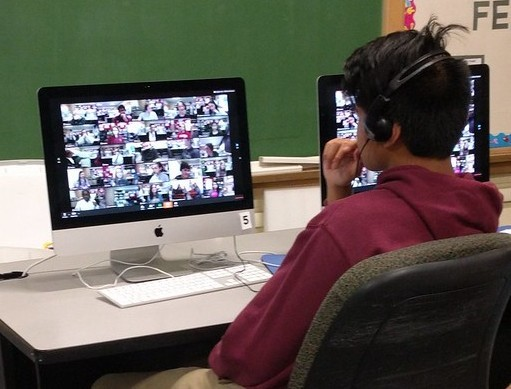 Bridge Program Student Connecting Virtually 1