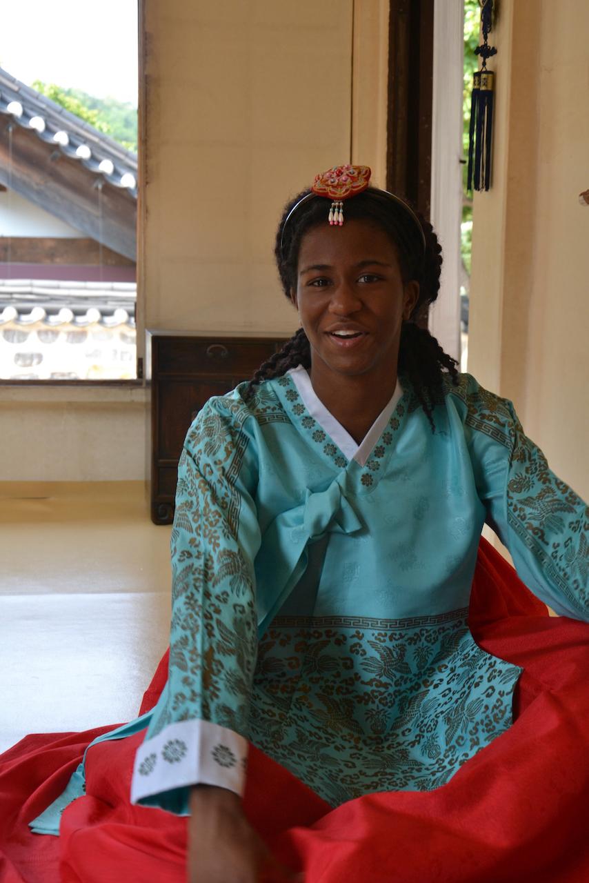 Simone Wearing Hanbok