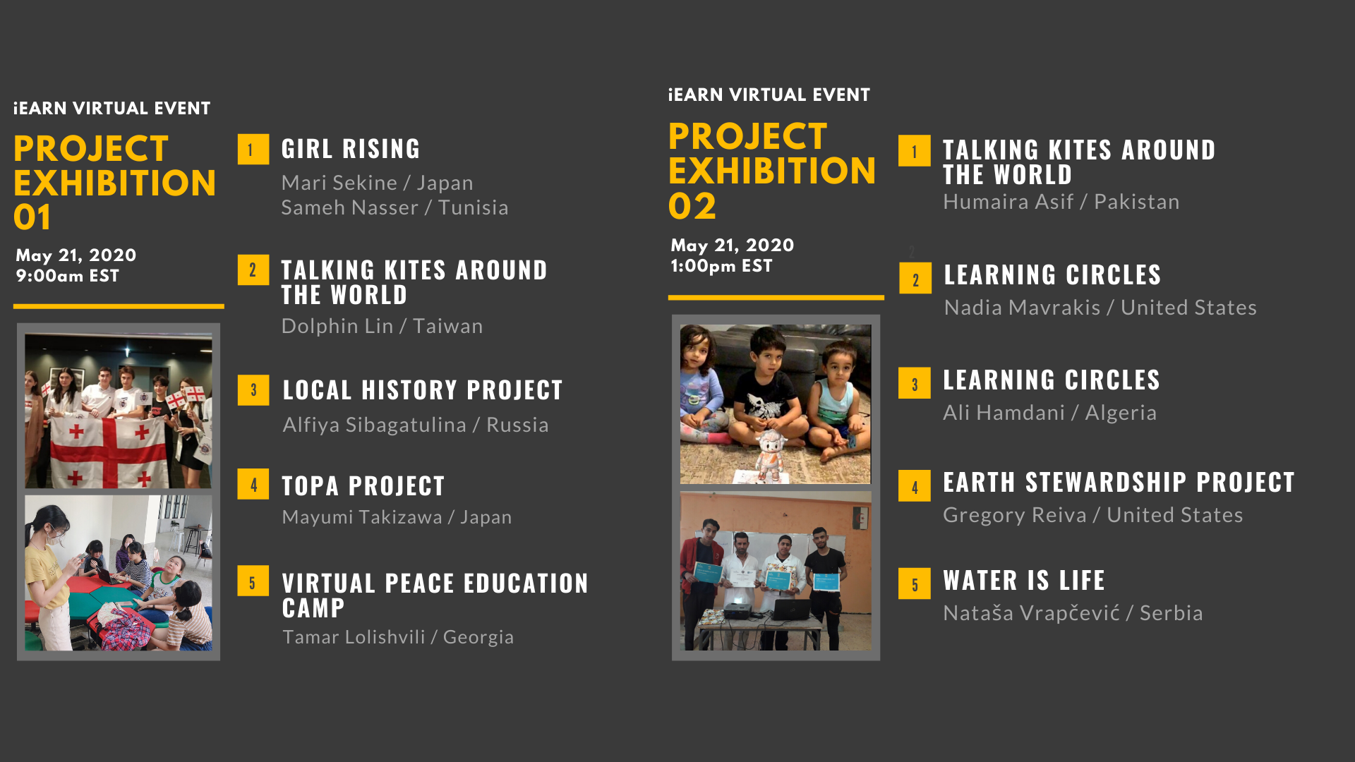 Updated I Earn Virtual Project Exhibition Program May 2020