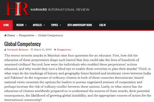 Winter 2009 Harvard International Review