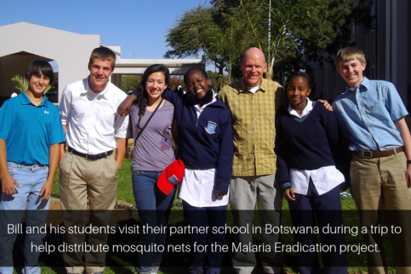 Bill Meyers And Students On Trip To Botswana Photo