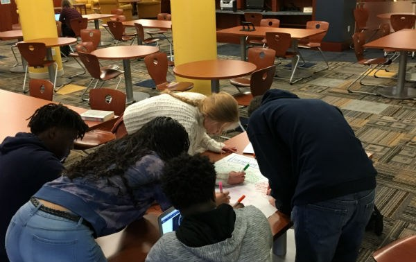 Students Working on an iEARN Project