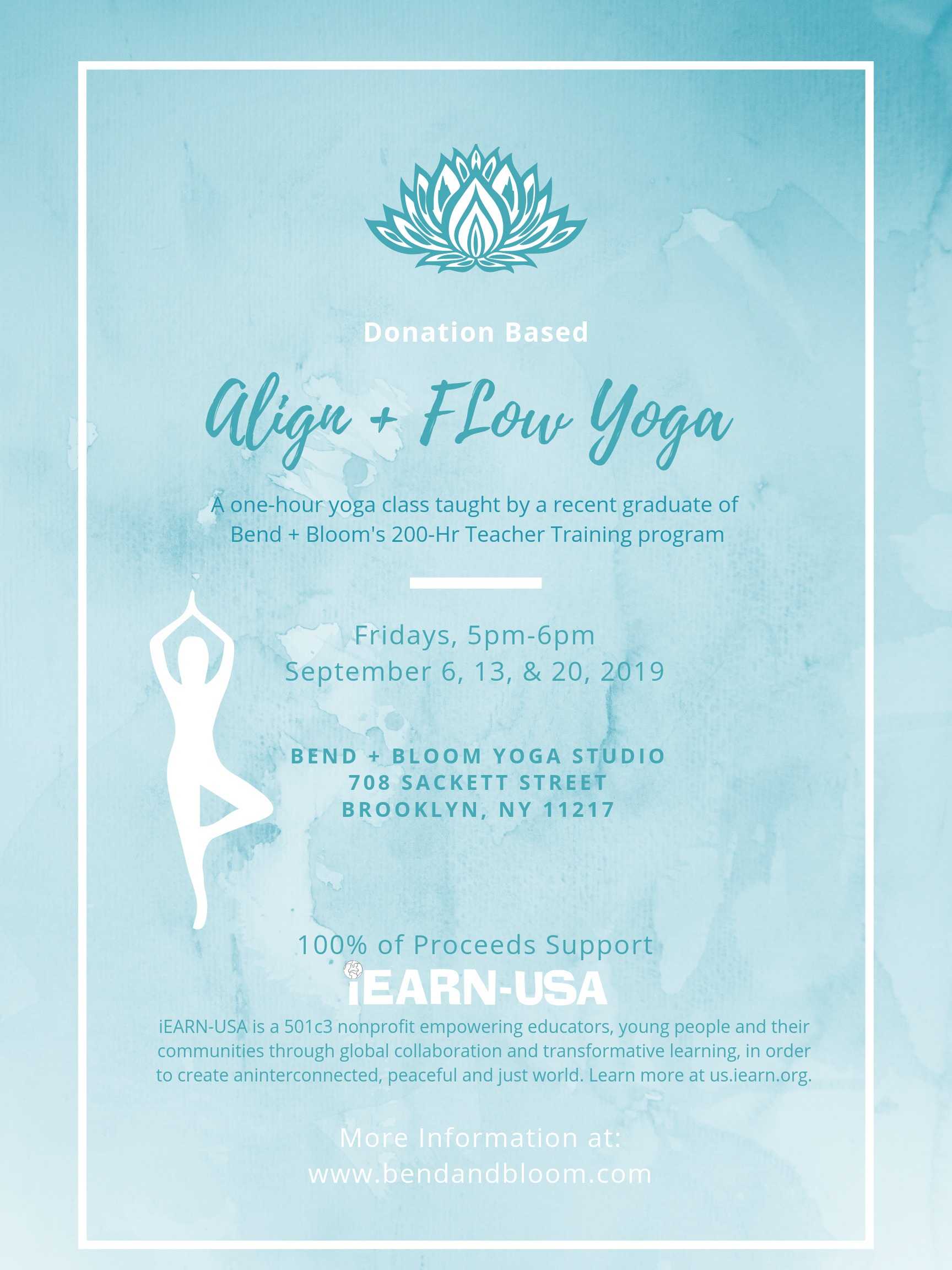 I Earn Usa Yoga Benefit Classes 1