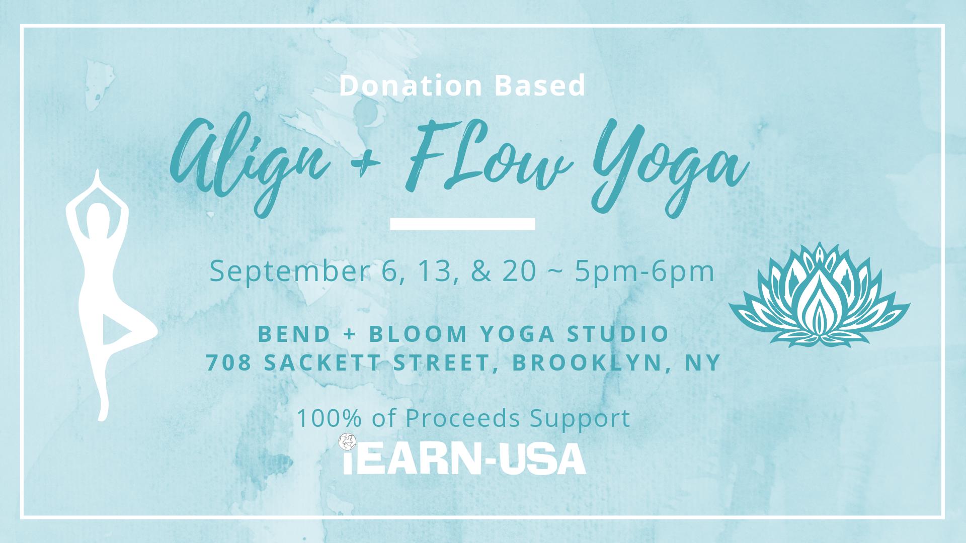I Earn Usa Yoga Benefit Classes Banner Image
